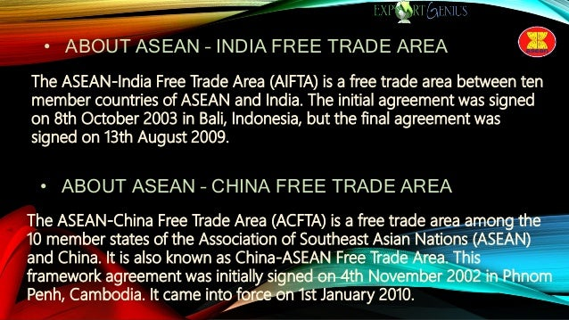 Intra Asean Trade Outlook Asean Relations With India China Us