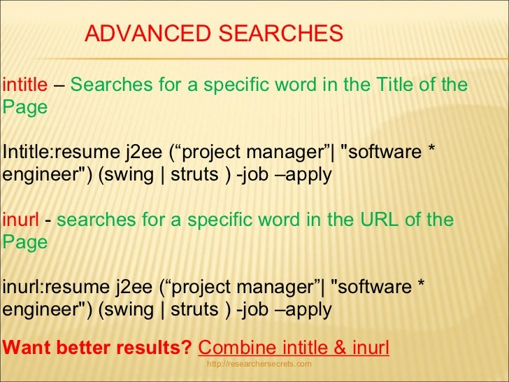 a search engine syntax