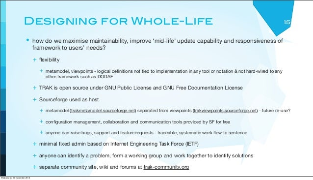 Designing for Whole-Life • how do we maximise maintainability, improve 'mid-life' update capability and responsiveness of ...