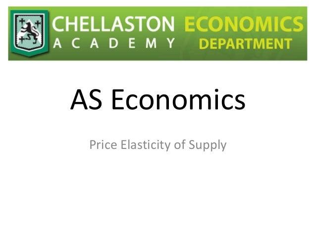 AS Economics Price Elasticity of Supply