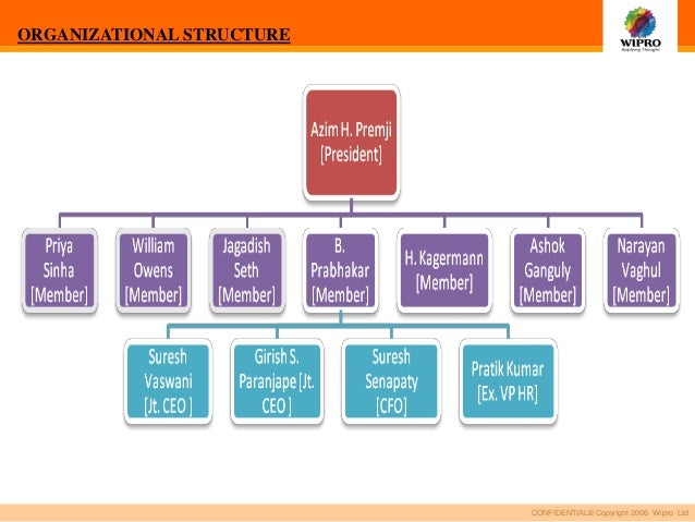 Organisational structure of tcs
