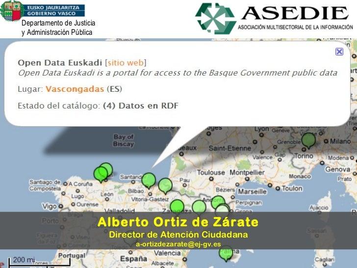 Departamento de Justicia y Administración Pública Alberto Ortiz de Zárate Director de Atención Ciudadana [email_address]