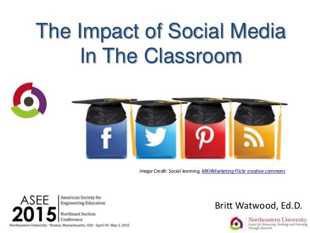 The Impact of Social Media In The Classroom Britt Watwood, Ed.D. Image Credit: Social learning, MKHMarketing Flickr creati...