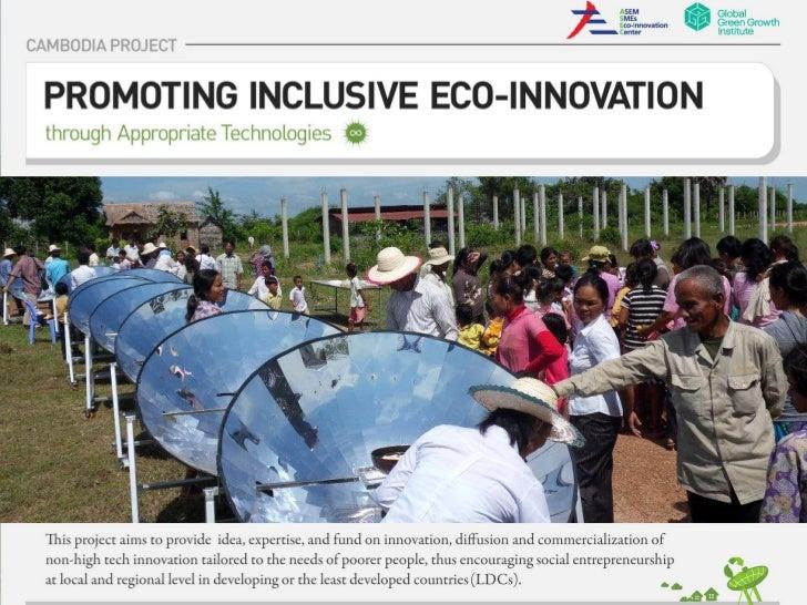 Promoting inclusive eco-innovation in Cambodia