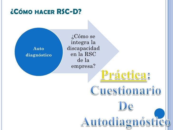 ¿CÓMO HACER RSC-D?                   ¿Cómo se                  integra la      Auto       discapacidad   diagnóstico    en...