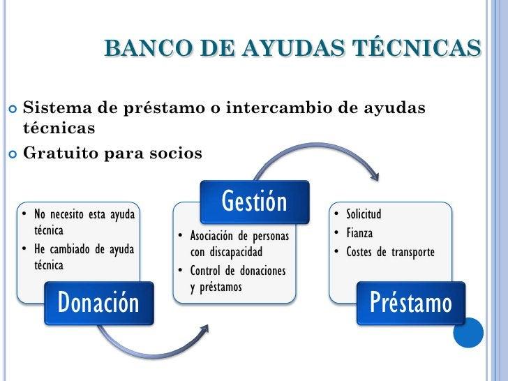 BANCO DE AYUDAS TÉCNICAS Sistema de préstamo o intercambio de ayudas  técnicas Gratuito para socios    • No necesito est...