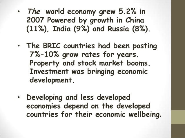 rise of brics economy and its impact economics essay Bric countries and their role in the world economy essay 1054 words | 5 pages bric countries and their role in the world economy brazil, russia, india and china are increasingly becoming significant economies and sources of power in the global world order, and it does not make sense to put them on the same level as other developing countries, such as south africa or mexico.