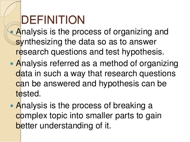 Analyze Quantitative Data Quantitative data analysis is helpful in evaluation because it provides quantifiable and easy to understand results Quantitative data can be analyzed in a variety of different ways