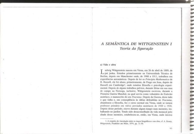 A semântica de wittgenstei i teoria da figuração   oliveira, manfredo a. de