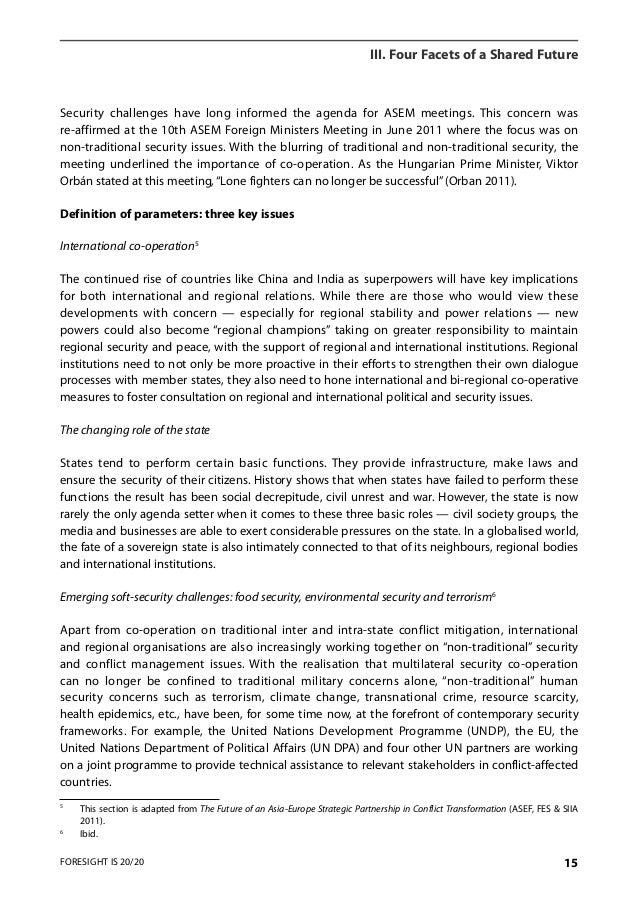 Securitisation of transnational crime