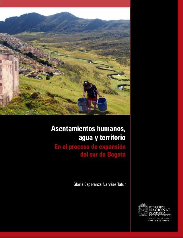 NACIONALFACULTAD DE ARTESMAESTRÍA EN HÁBITATAsentamientos humanos,agua y territorioEn el proceso de expansióndel sur de Bo...