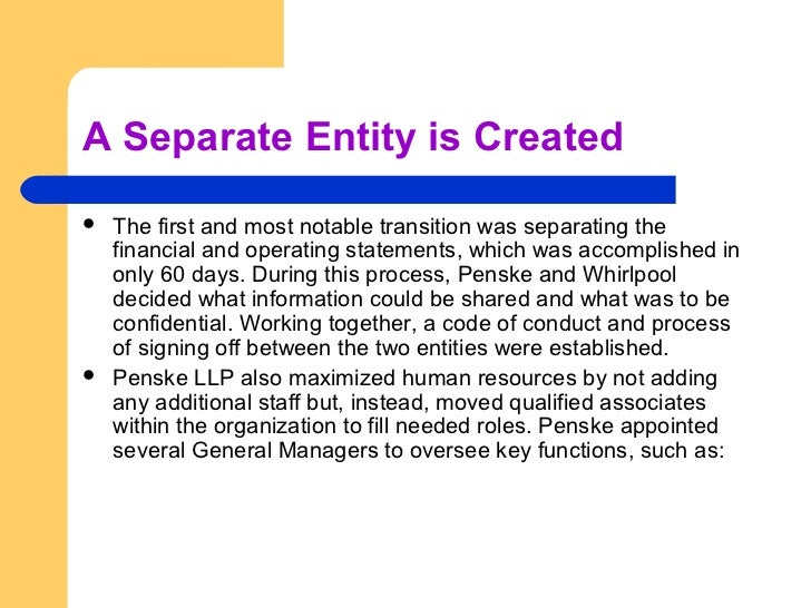 what is separate entity