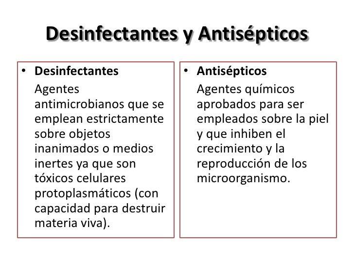 Desinfectantes y Antisépticos• Desinfectantes            • Antisépticos  Agentes                     Agentes químicos  ant...