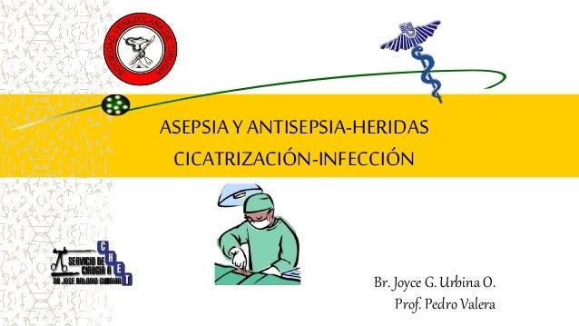 Br. Joyce G. Urbina O. Prof. Pedro Valera ASEPSIAYANTISEPSIA-HERIDAS CICATRIZACIÓN-INFECCIÓN