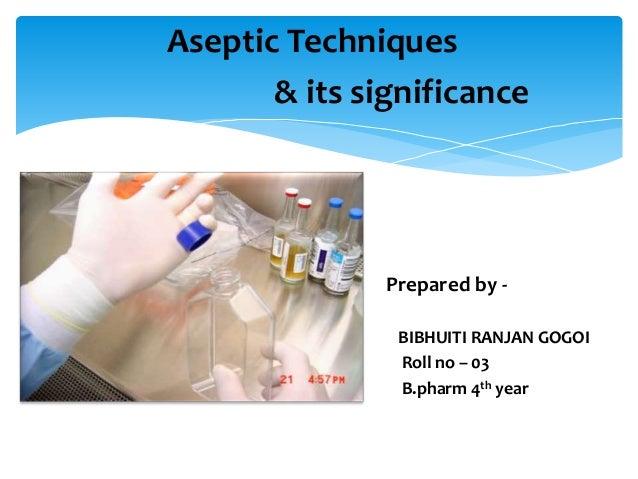 aseptic technique vs sterile