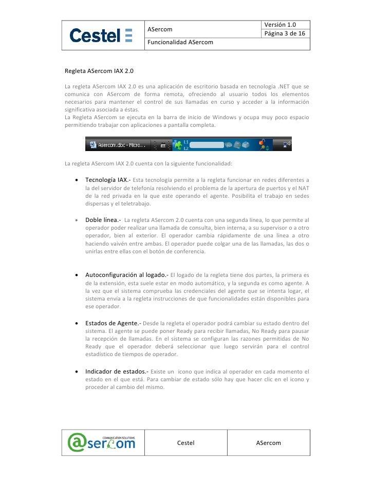 Funcionalidad ASercom Slide 3
