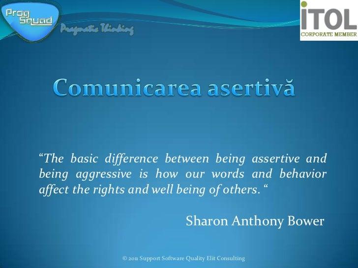 Comunicarea asertiva pdf