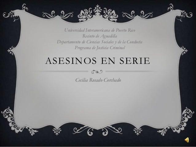 Universidad Interamericana de Puerto Rico              Recinto de Aguadilla Departamento de Ciencias Sociales y de la Cond...