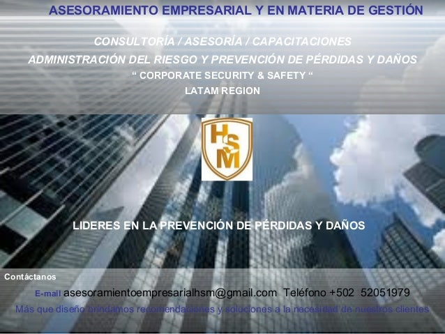 Asesoramiento Empresarial y en Materia de Gestion