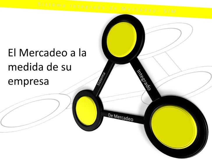 Sistema Integrado de Mercadeo- SIM<br />El Mercadeo a la medida de su empresa<br />Sistema<br />Integrado<br />De Mercadeo...