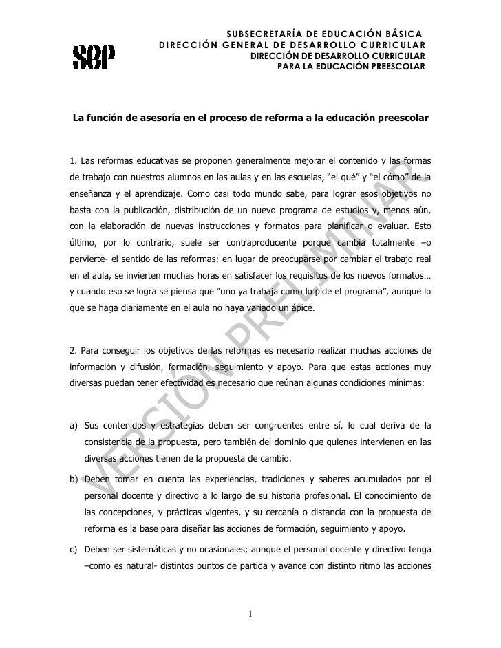 SUBSECRETARÍA DE EDUCACIÓN BÁSICA                       DIRECCIÓN GENERAL DE DESARROLLO CURRICULAR                        ...