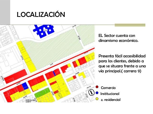 LOCALIZACIÓN EL Sector cuenta con dinamismo económico.  Presenta fácil accesibilidad para los clientes, debido a que se si...