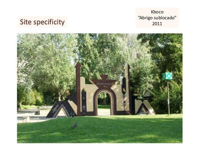 """Site specificity Kboco """"Abrigo sublocado"""" 2011"""