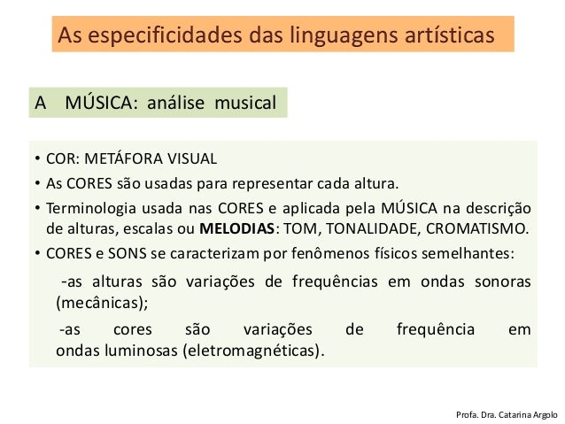 • COR: METÁFORA VISUAL • As CORES são usadas para representar cada altura. • Terminologia usada nas CORES e aplicada pela ...