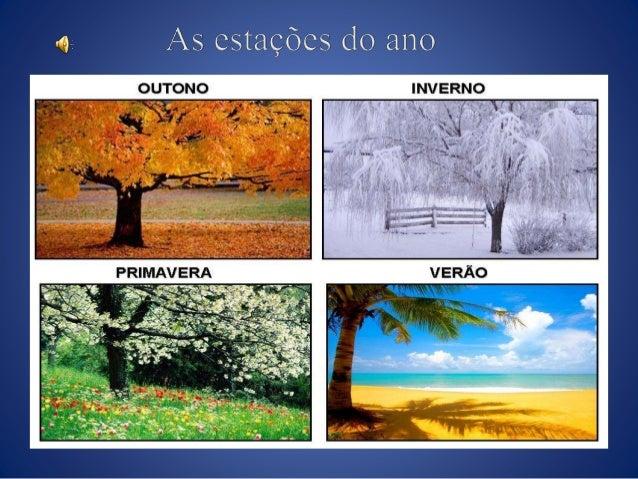 Chamamos de estação do ano cada uma das quatro subdivisões do ano baseadas em padrões climáticos. São elas: primavera, ver...