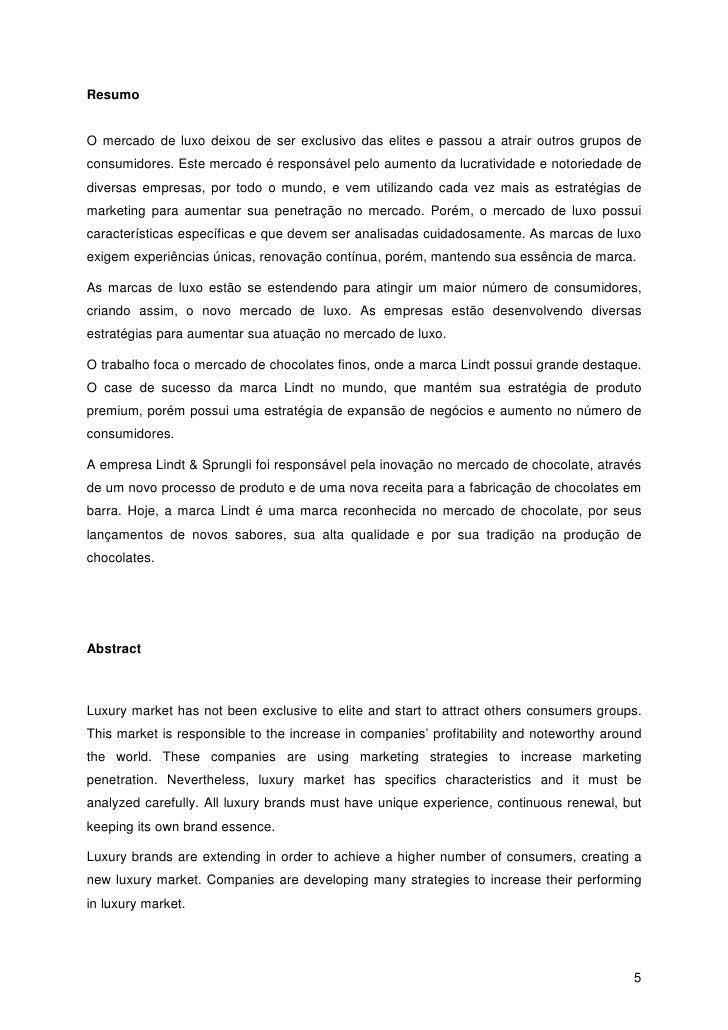 Luciana von Borries 4  5. ResumoO mercado de luxo ... 53816a4faf