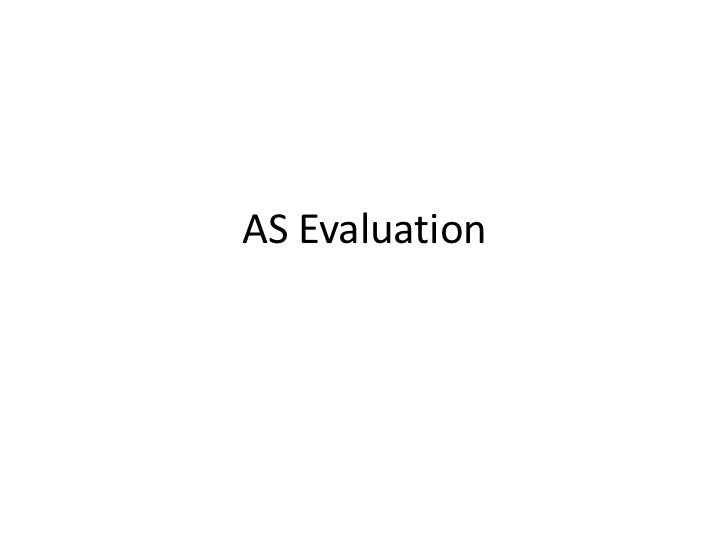 AS Evaluation