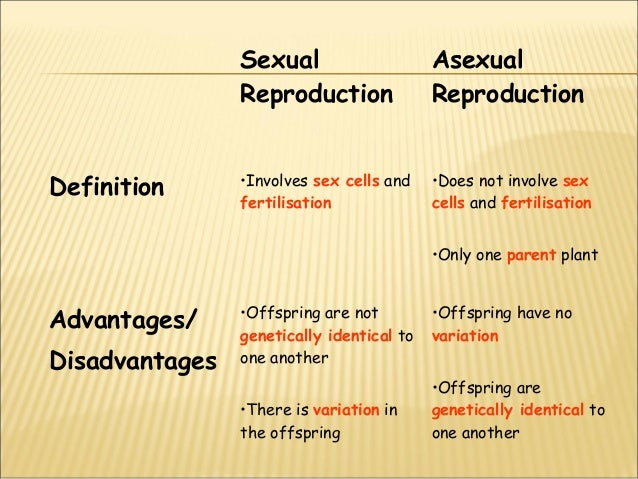Definition of sexual reproduction