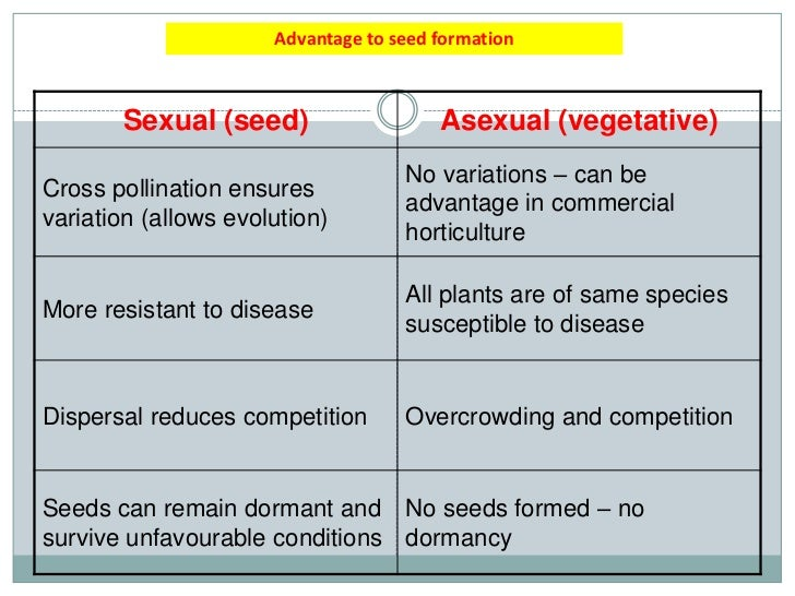 Commercial advantages of asexual reproduction