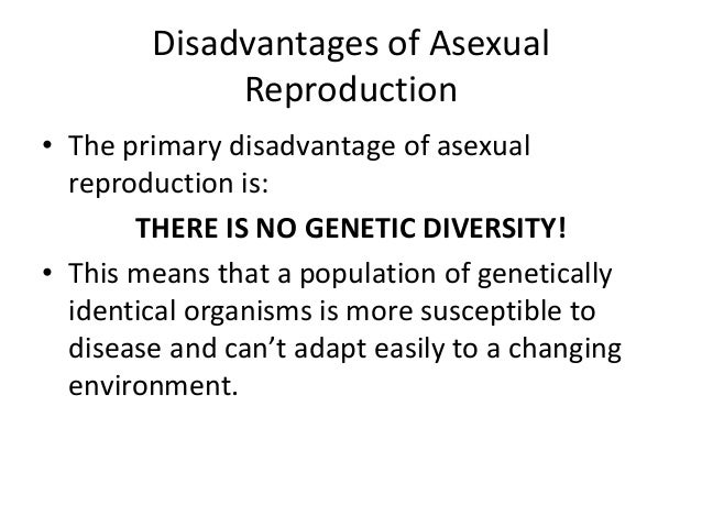 Asexual propagation disadvantages of technology