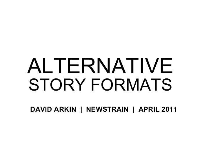 Alternative story formats PowerPoint