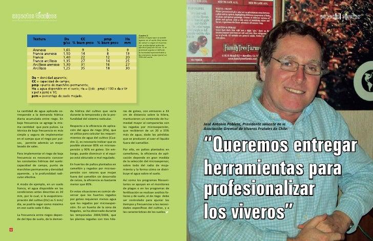 Asfixia radicular for Viveros frutales chile