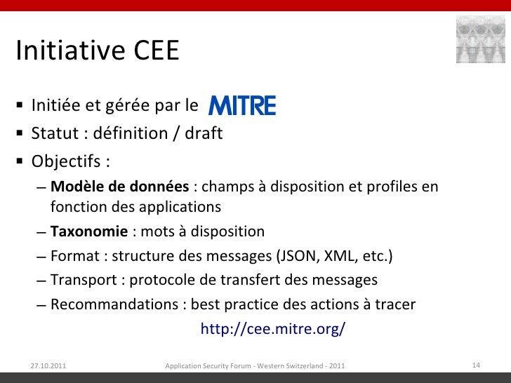 Initiative CEE Initiée et gérée par le Statut : définition / draft Objectifs :   – Modèle de données : champs à disposi...