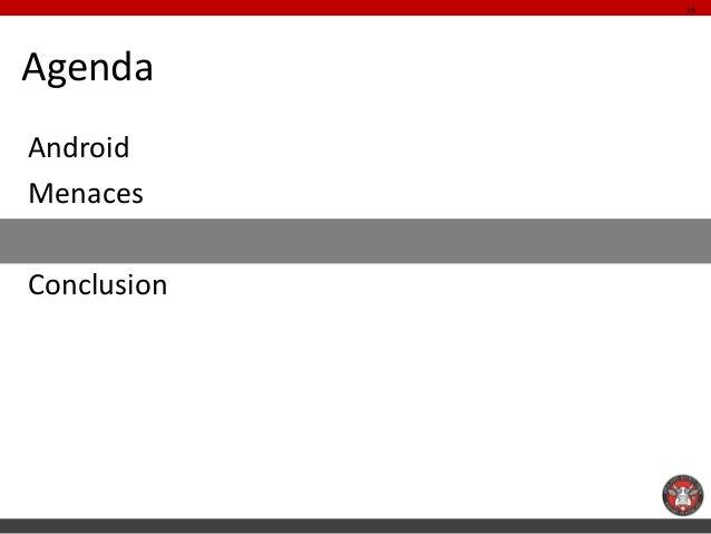 19AgendaAndroidMenacesProtectionsConclusion