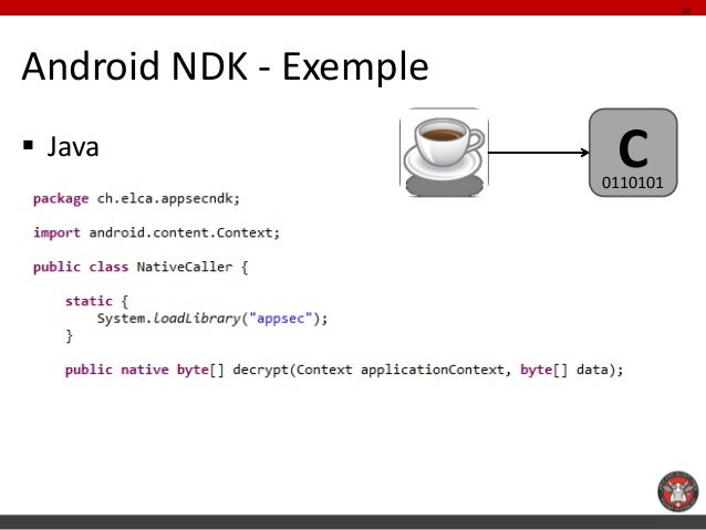 24Android NDK - Exemple Java                   C                        0110101