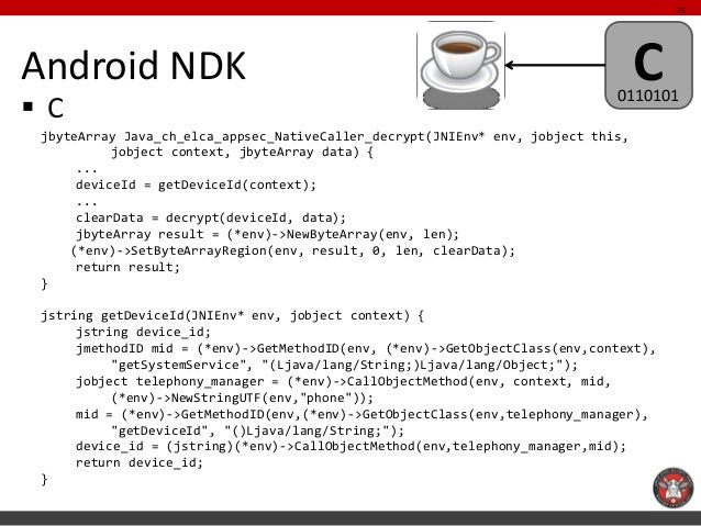 25Android NDK                                                                      C                                      ...