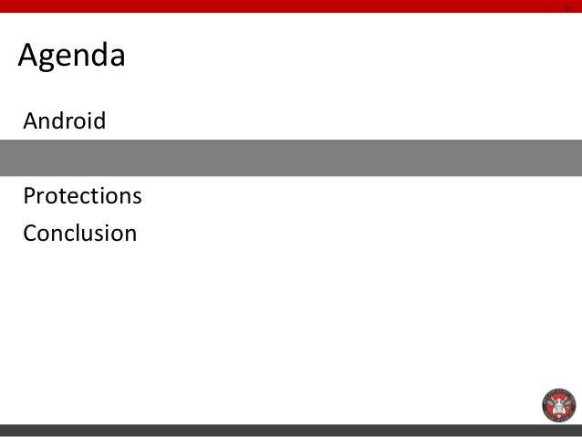 9AgendaAndroidMenacesProtectionsConclusion