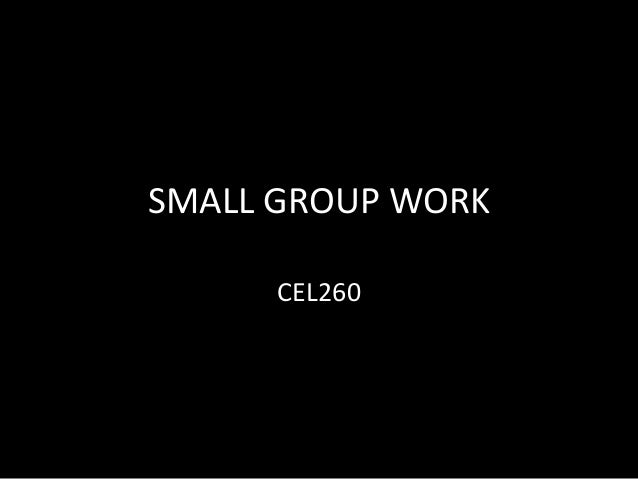 SMALL GROUP WORK CEL260