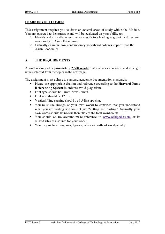 BM002-3-3                            Individual Assignment                      Page 1 of 5LEARNING OUTCOMES:This assignme...