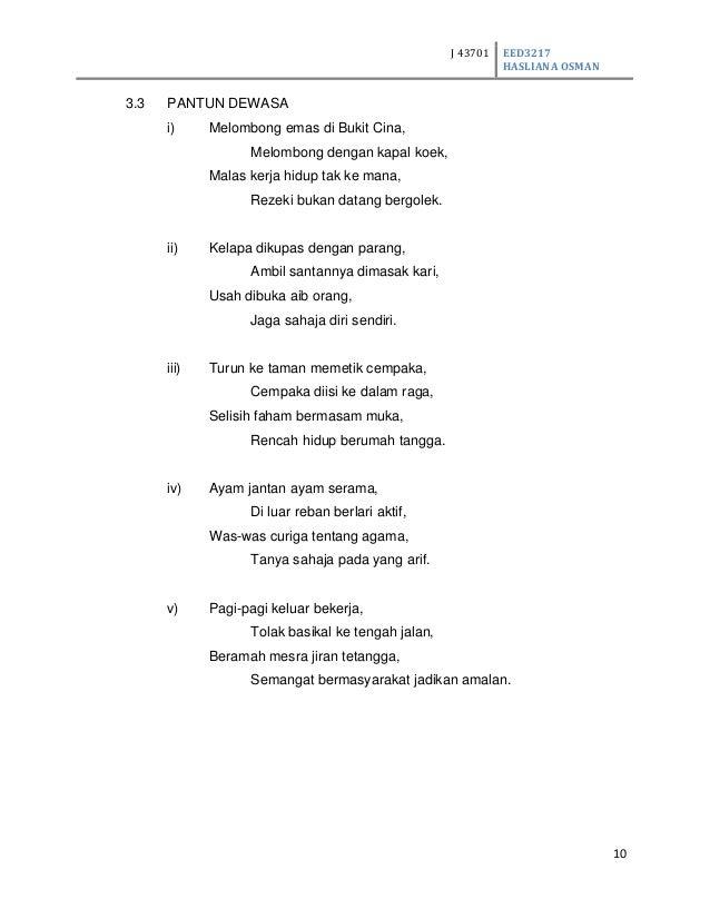 Pantun Agama Stpm ASSIGNMENT MEMBINA PANTUN 569