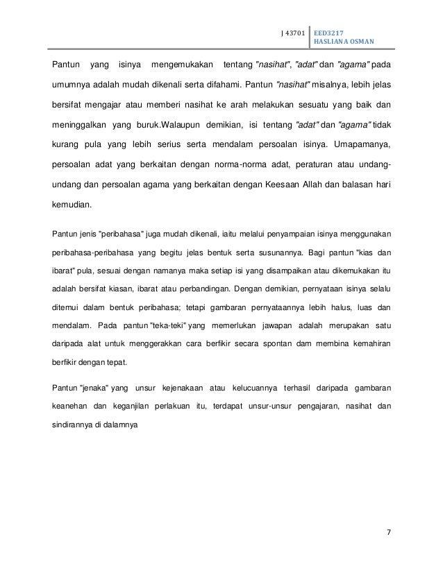 Pantun Agama Stpm ASSIGNMENT MEMBINA PANTUN 1112