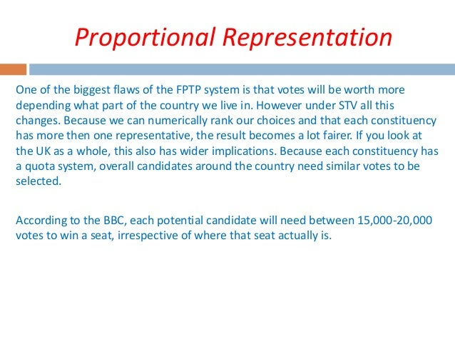 proportional representation electoral system Electoral system: mixed: parallel (segmented) (pr lists and majoritarian constituencies) (parallel systems use proportional representation & majority formulas voters receive two separate ballot papers, one for the plurality/majority seat and one for the proportional representation seats this is done in japan, taiwan and thailand).