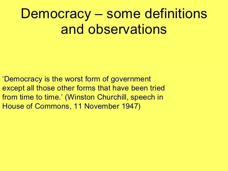 democracy speech topics