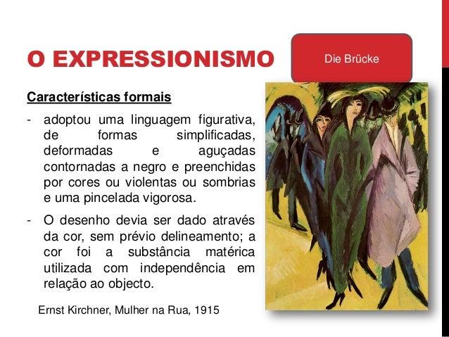 Características formais- execução espontânea etemperamental, desenfreada eirreflectida, fazendo com queas obras parecessem...
