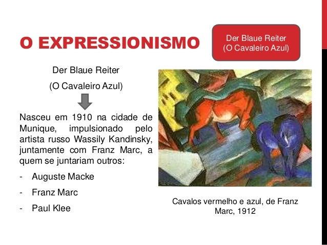"""O EXPRESSIONISMO Der Blaue Reiter(O Cavaleiro Azul)Wassily Kandinsky, Capa no nº 1 daRevista """"O Cavaleiro Azul"""", 1912""""Já n..."""