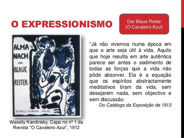 """O EXPRESSIONISMO Der Blaue Reiter(O Cavaleiro Azul)Wassily Kandinsky, Capa no nº 1 daRevista """"O Cavaleiro Azul"""", 1912A art..."""